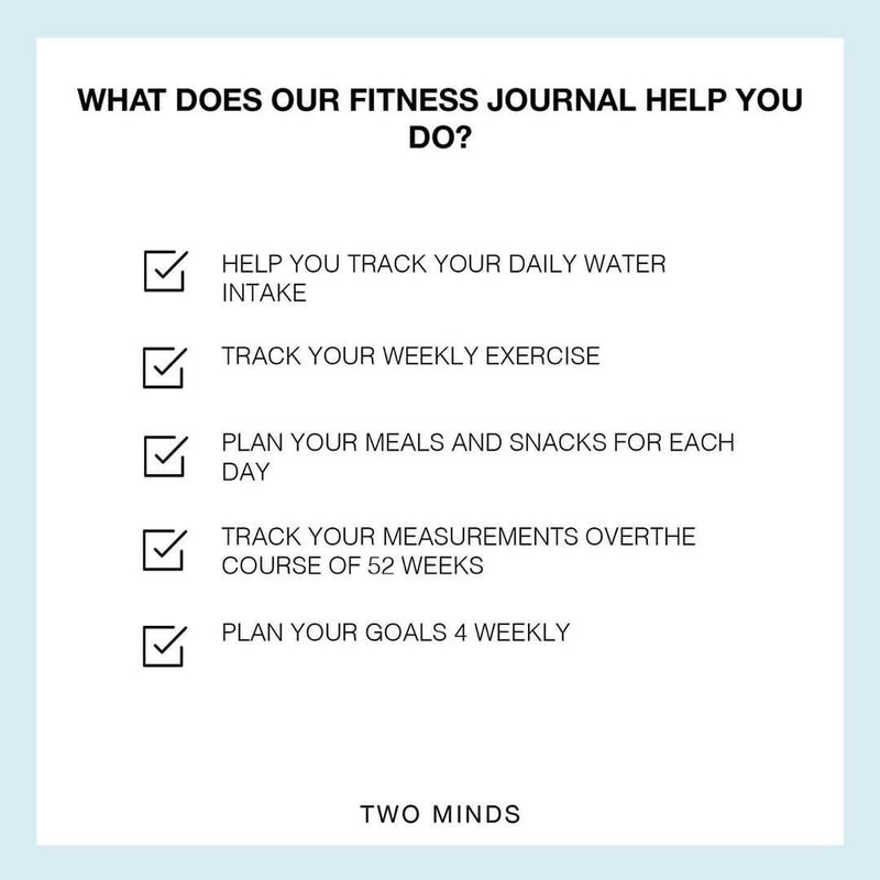 My Fitness Journal in Mint + Goals Pad Set