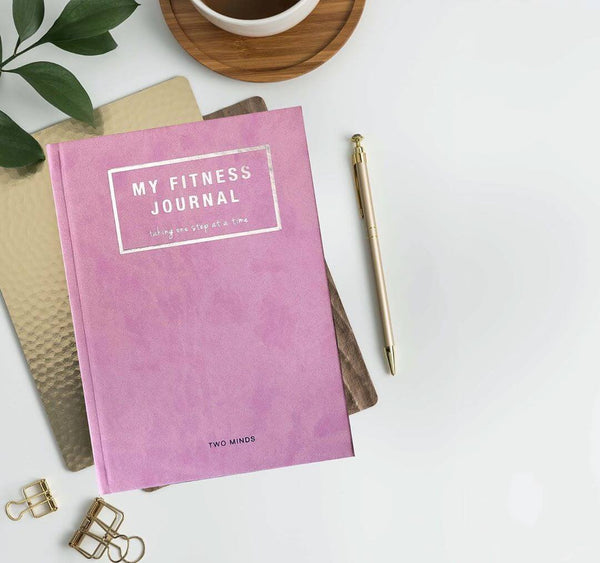My Fitness Journal in Pink + Goals Pad Set