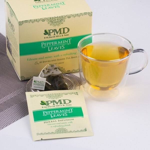 20 Peppermint Leaves Tea Bags by PMD Tea