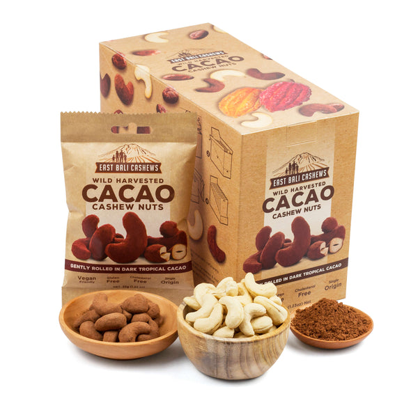 Cacao Cashew Snack Case Of 10 by East Bali Cashews