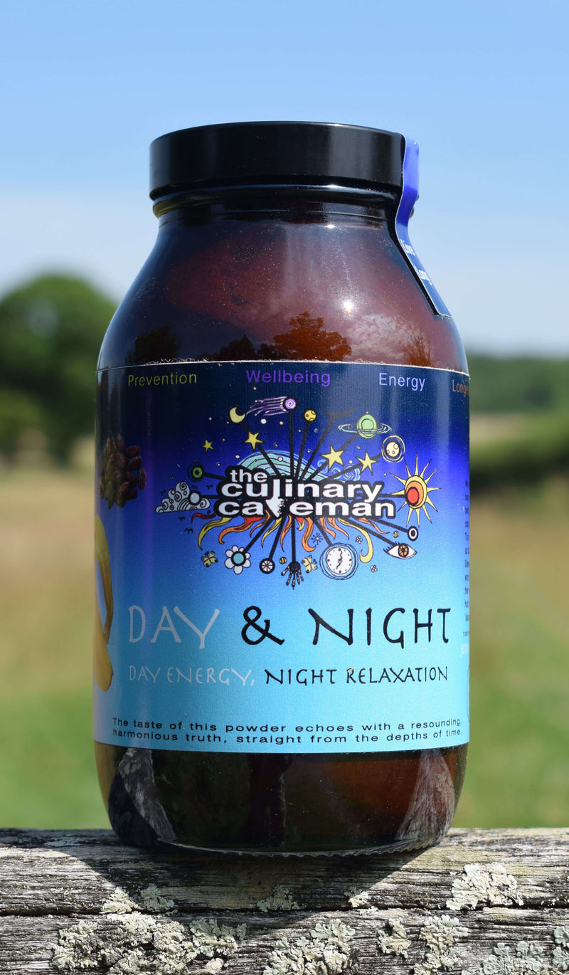 Day and Night Powder Food Supplement to Support Increased Energy in the Daytime & Better Sleep