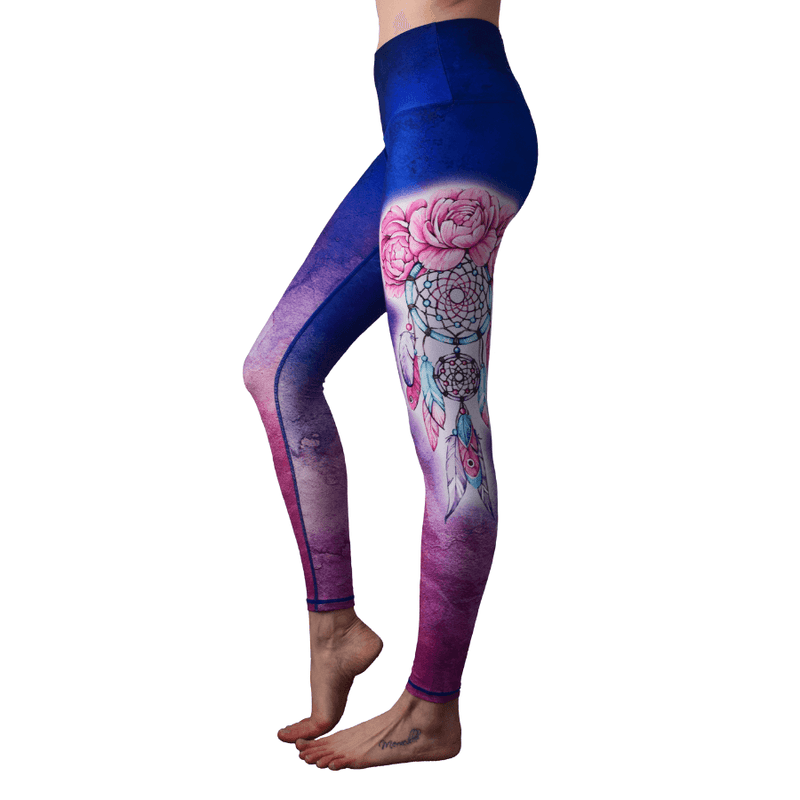 Dream Catcher High Waisted Eco Leggings by Yogacycled at Life by Equipe