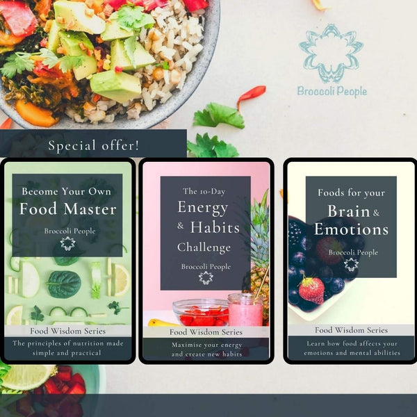 Food Wisdom Complete 3 Ebook Set by Broccoli People
