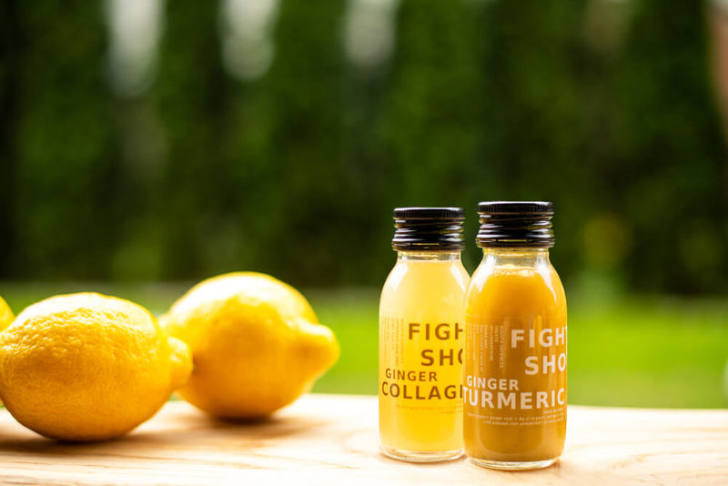 100% Natural Cold Pressed Ginger and Turmeric Health Shots - Case of 12 Bottles by Fighter Shots