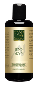 Nano Gold Purified Mineral Water to Support Natural Brain Performance, Rebalanced Hormones, Skin Ageing & Joint Complaints External Use