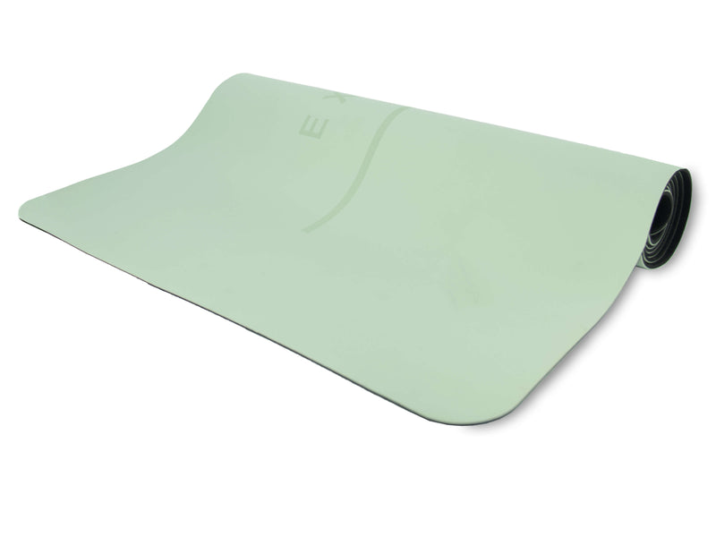 Inhale Exhale Super Grip Yoga Mat in Mint - Grounded Factory