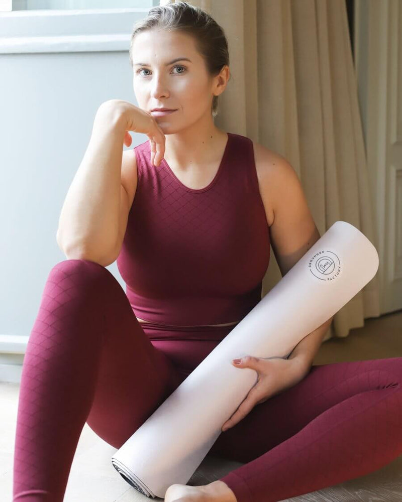 Stay Grounded Light Pink Travel Yoga Mat - Grounded Factory