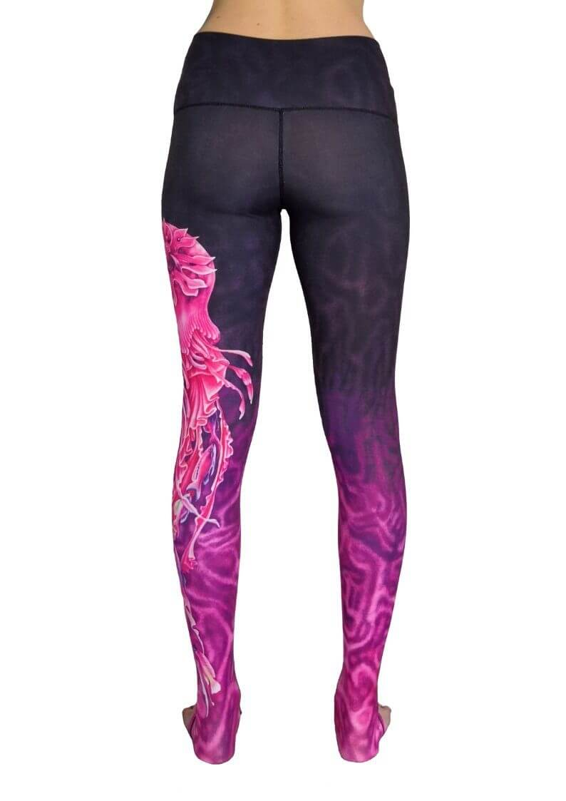 Jellyfish Extra Long High Waisted Eco Leggings by Yogacycled at Life By Equipe