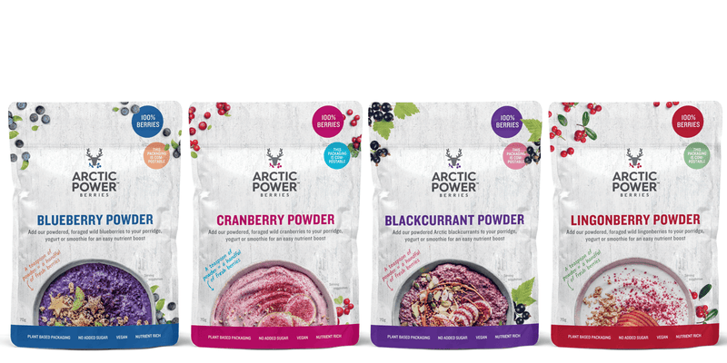 Pure Berry Powder Selection Pack - Arctic Power Berries Bundle 4x70g