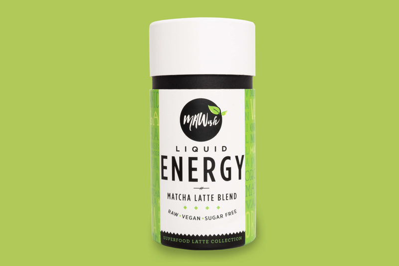 MAWish Food Latte Blend Liquid Energy Vegan Matcha Latte Blend