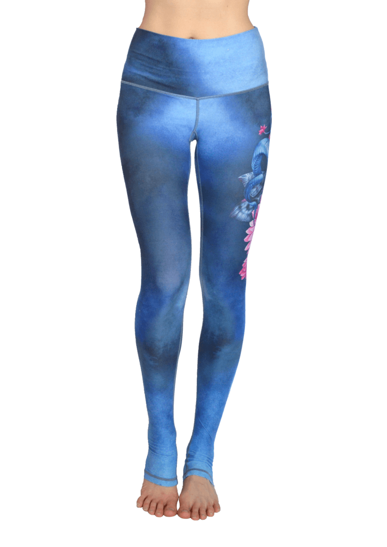 Mystic Nature Extra Long High Waisted Eco Leggings by Yogacycled at Life By Equipe