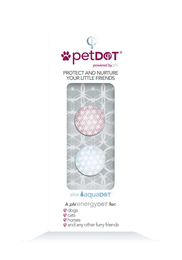 petDOT + aquaDOT - Removing Imprinting from EMF Radiation on Collars, Bridles and Water Bowls
