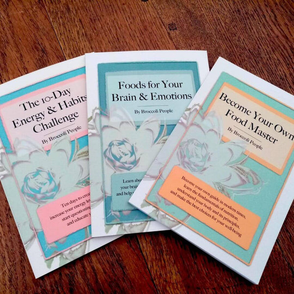 Food Wisdom Complete 3 Paperback Books Set by Broccoli People