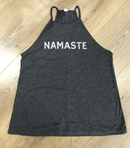 Namaste High Neck Flowy Vest Top by Blossom Yoga Wear