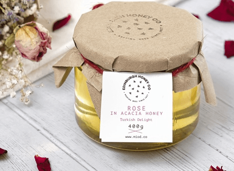 Rose Infused Acacia Honey by Edinburgh Honey Co