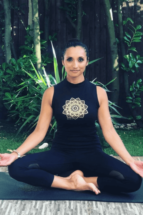 Gold Mandala Cropped High Neck Vest Top by Blossom Yoga Wear