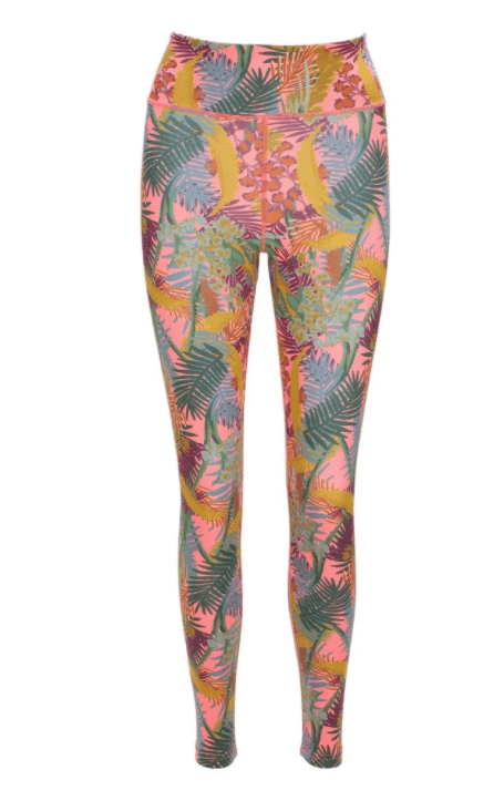 Willow Yoga Kew Tropics Eco Friendly Yoga Leggings by Blossom Yoga Wear