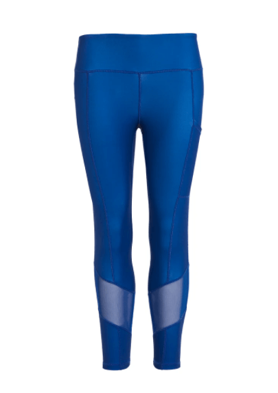 Blue High Waisted Gym Leggings Perky Peach