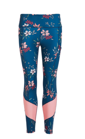 Floral High Waisted Gym Leggings Perky Peach