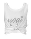 Off White Cropped Yogi Eco Vest