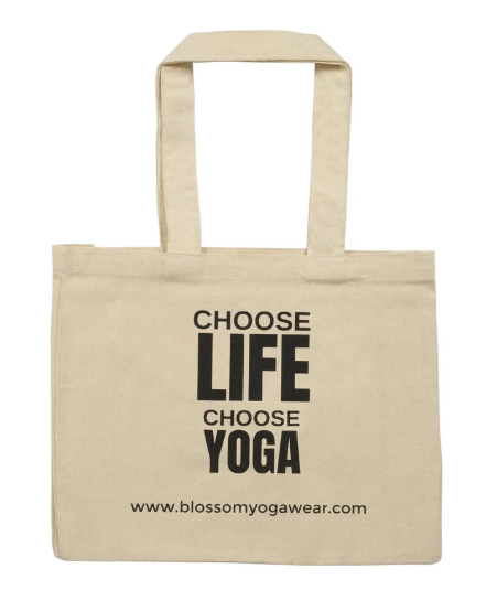 Choose Life Organic Cotton Tote Bag