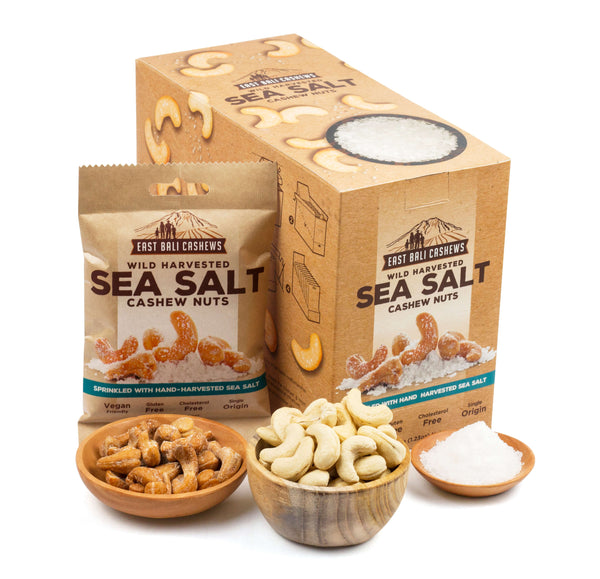 Sea Salt Cashew Snack Case Of 10 by East Bali Cashews