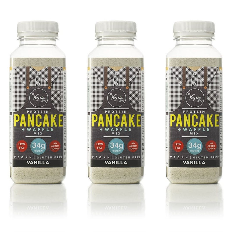 3x Vanilla Vegan Protein Pancake and Waffle Mix Bundle