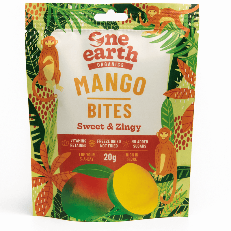 100% Organic Mango Bites Multipack by One Earth Organics