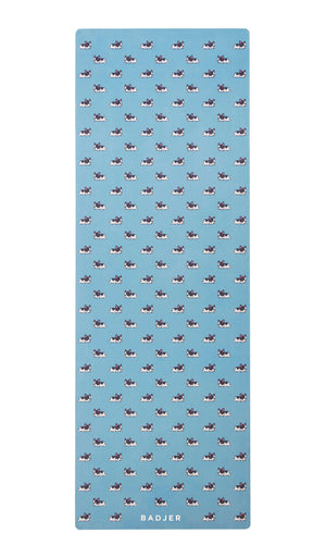 BADJER Mat BADJER Eco Yoga Mat in Blue Dog Print