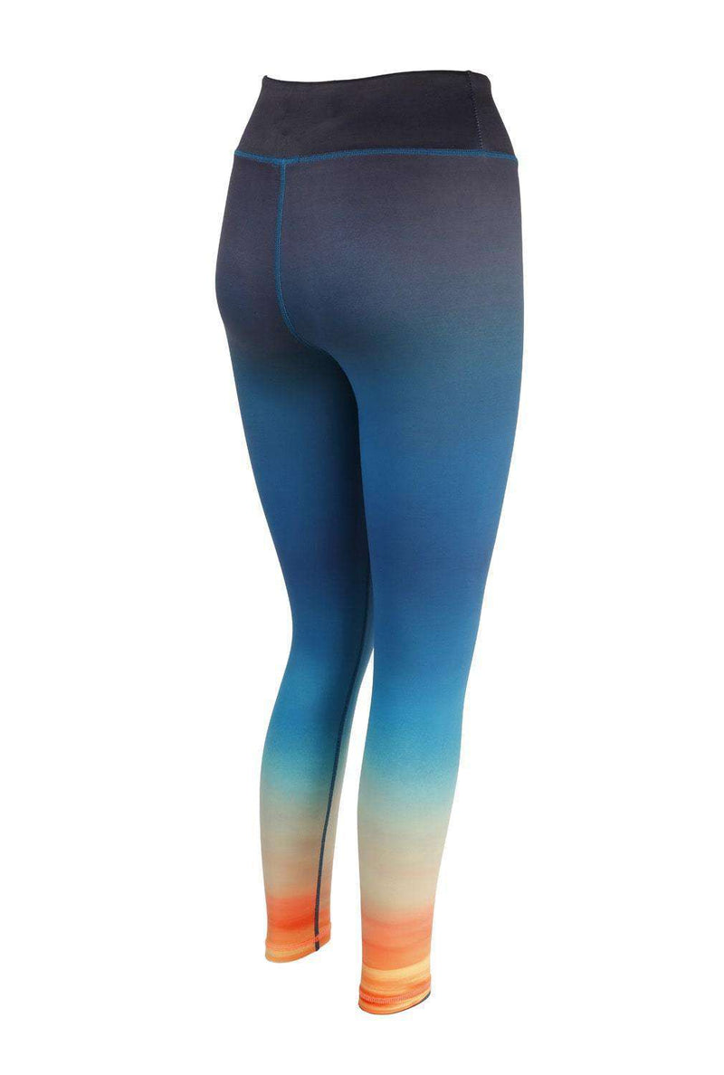 Blossom Yoga Wear Leggings Dusk Til Dawn Print High Waisted Yoga Leggings