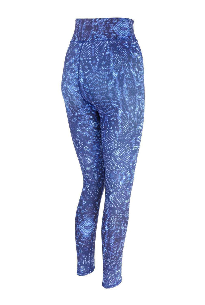 Blossom Yoga Wear Leggings Snake Hips Blue High Waisted Yoga Leggings