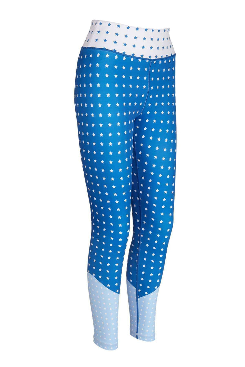 Blossom Yoga Wear Leggings Stardust Blue Star High Waisted Yoga Leggings