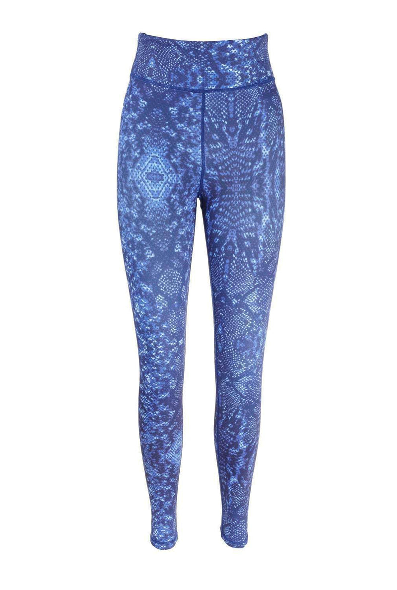 Blossom Yoga Wear Leggings Blue Snake Hips Blue High Waisted Yoga Leggings