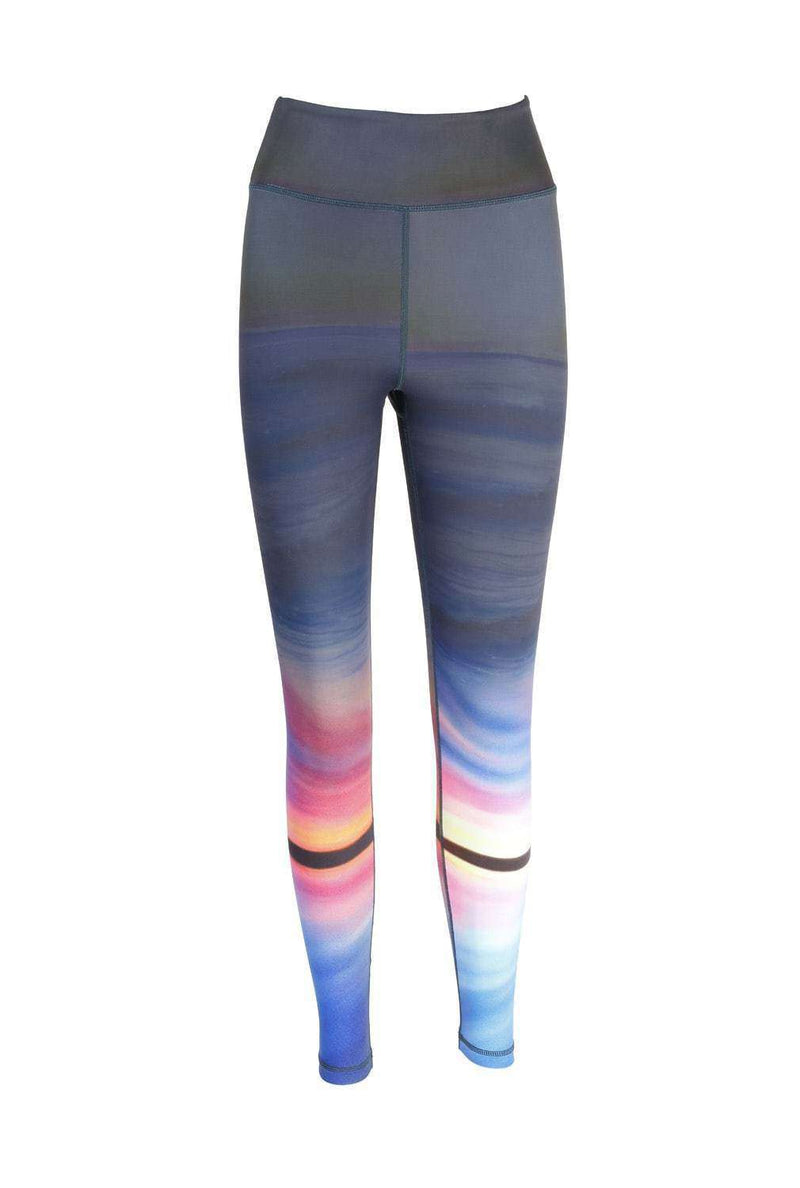 Blossom Yoga Wear Leggings  Ombre Horizon Print High Waisted Yoga Leggings