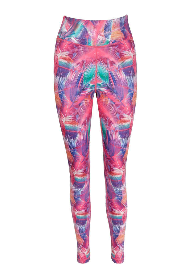 Blossom Yoga Wear Leggings  Pink Birds of a Feather High Waisted Yoga Leggings