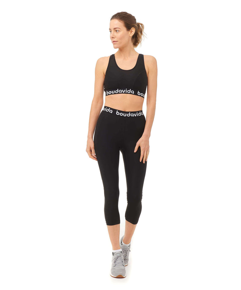 Spirit Crop Top Black , Tops  - Life By Equipe
