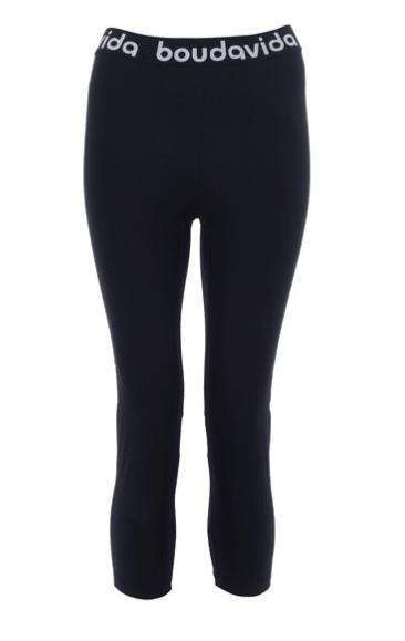 Zoom Cropped Black Leggings , Leggings  - Life By Equipe