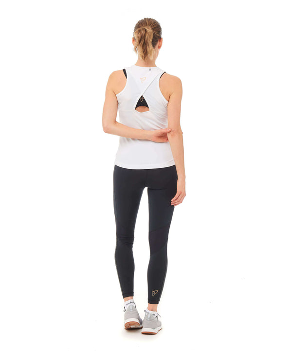 Dynamo Vest Top - White , Tops  - Life By Equipe