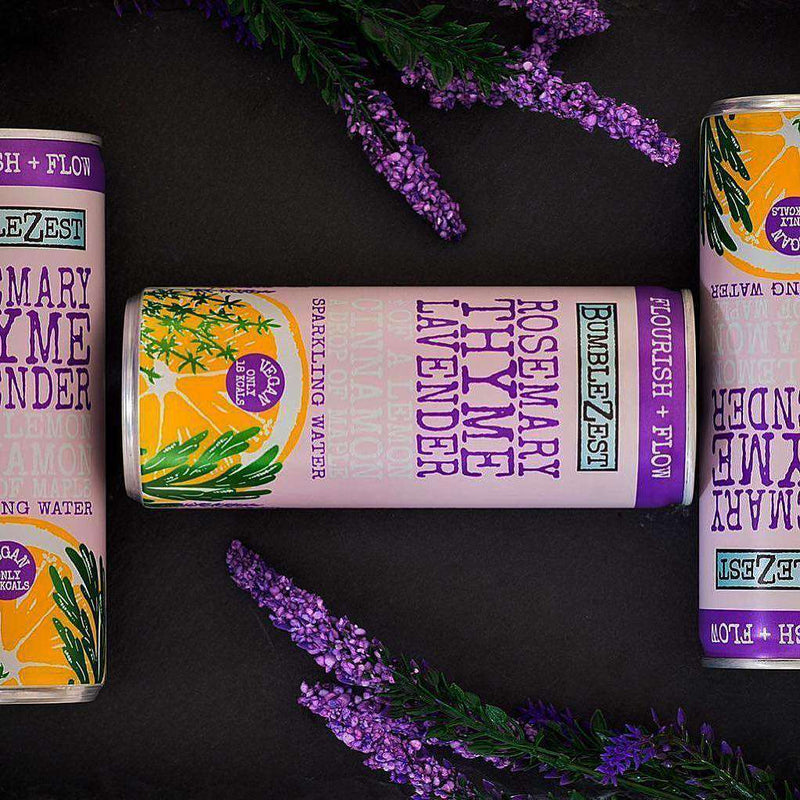 Flourish & Flow Sparkling Rosemary Thyme & Lavender - Case of 24 Cans , Drinks  - Life By Equipe