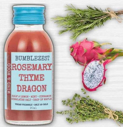 Mind & Mood Vegan Health Shots - Case of 20 Bottles Rosemary Thyme & Dragon Fruit , Drinks  - Life By Equipe