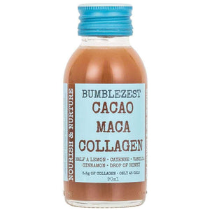 BumbleZest Drinks Nourish & Nurture Health Shots - Case of 10 Bottles Cacao Maca & Collagen