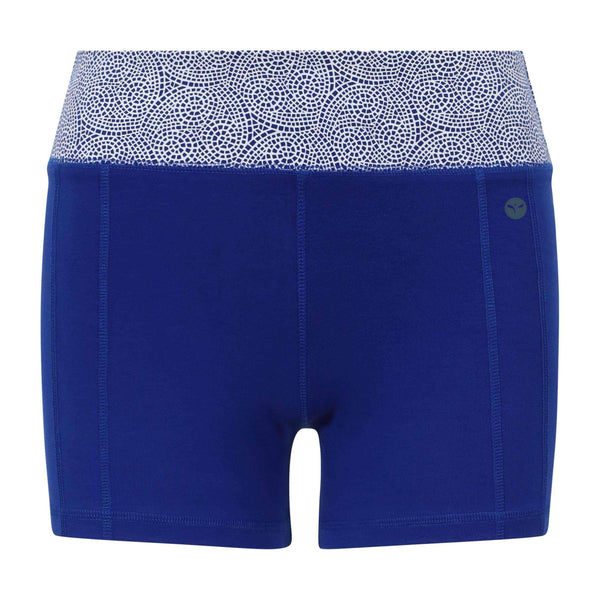 Cool Chakra Yoga Shorts in Blue , Shorts  - Life By Equipe