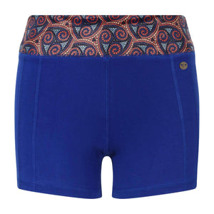 Warm Chakra Yoga Shorts in Blue , Shorts  - Life By Equipe