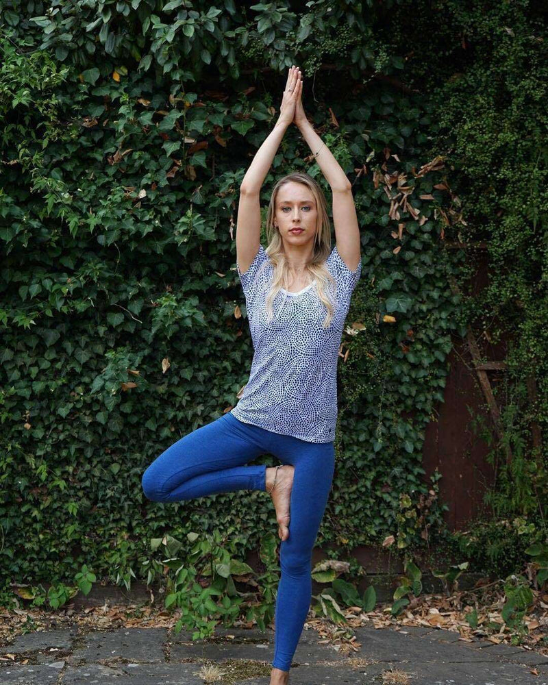 Chakra Energy Tee in Blue , Tops  - Life By Equipe
