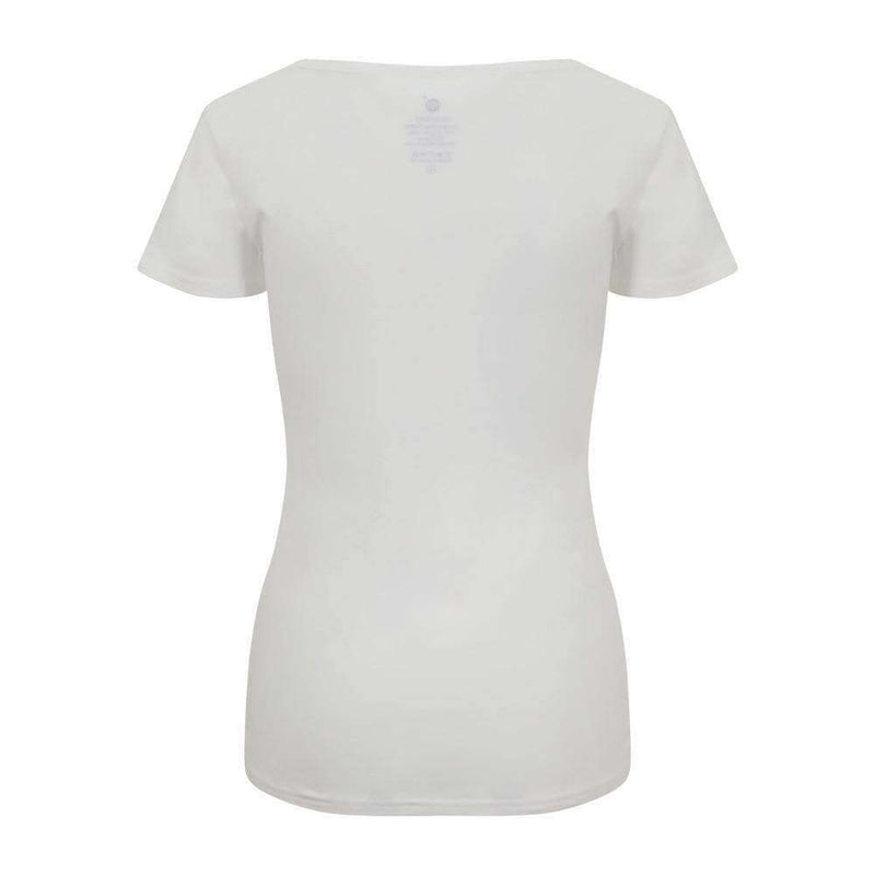 Cotton Comfort Tee in White , Tops  - Life By Equipe