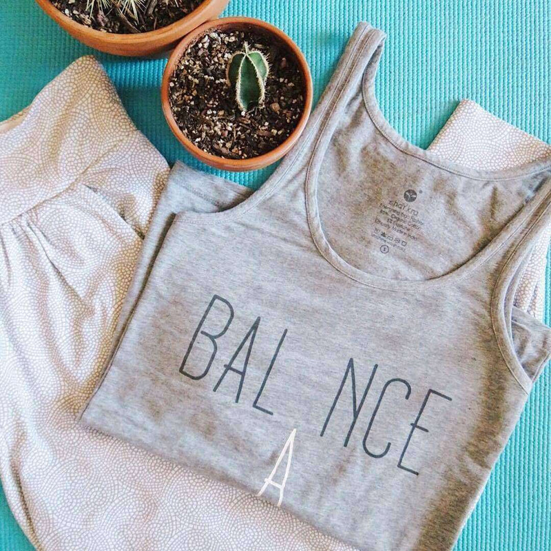 Weighing Balance Grey Tank Top , Tops  - Life By Equipe