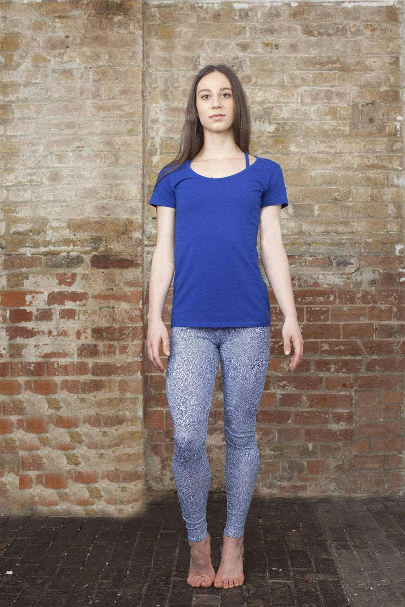 Cotton Comfort Tee in Blue , Tops  - Life By Equipe