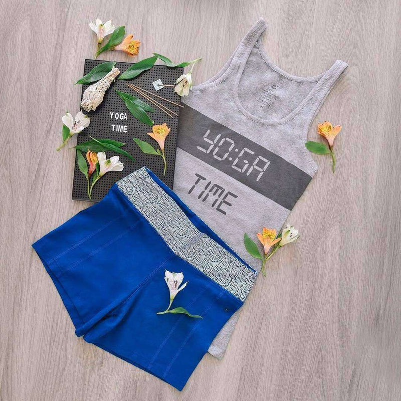 Yoga Time Grey Tank Top , Tops  - Life By Equipe
