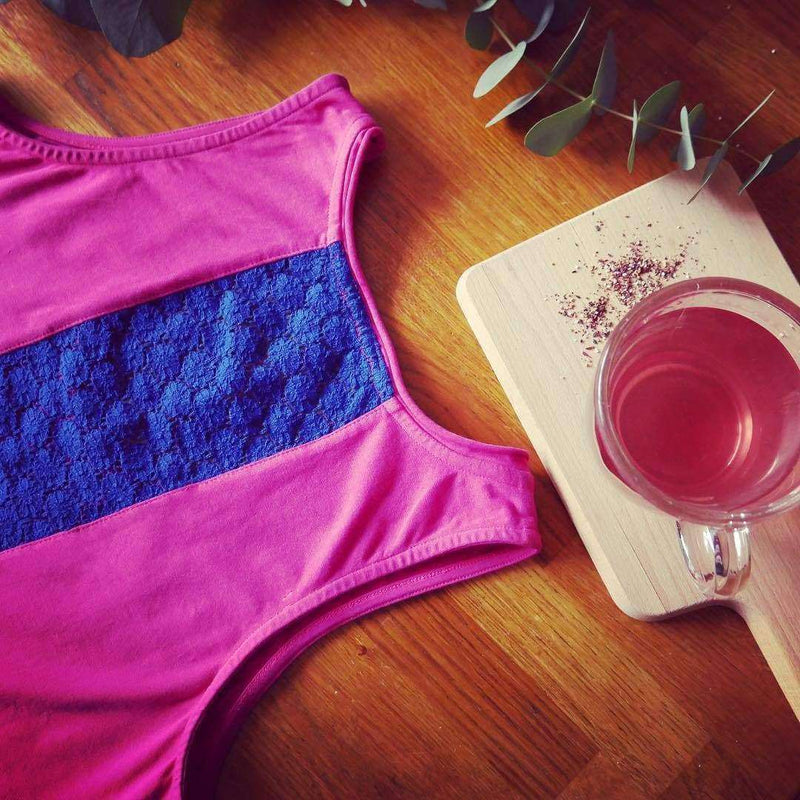 Contrast Chic Tank Top in Magenta , Tops  - Life By Equipe