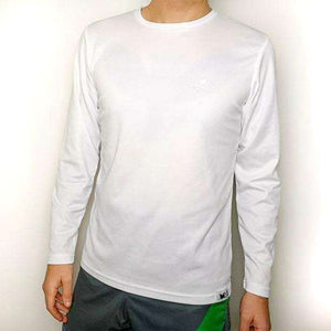 Commen Athletics Tops S / White Stark Long Sleeve Run Tee